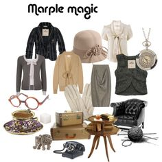"Okay, maybe not all of this is style for moi, but Miss Marple has some pretty nice items here! ""miss marple magic"" by boothstreet on Polyvore"