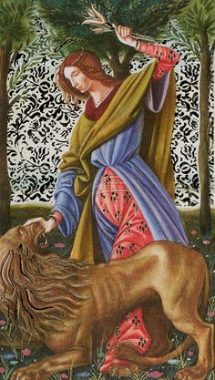 VIII. Strength: Golden Botticelli Tarot