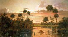 martin johnson heade the great florida sunset painting & martin ...