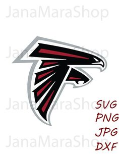 Atlanta Falcons logo svg, digital download, SVG, DXF,JPG,Png for use with Cameo, Silhouette and Cricut Die Cutting Machines