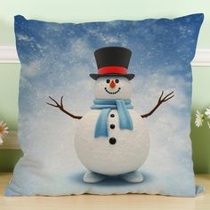 Now available!! Limited editions!!! http://designsbyzuedi.myshopify.com/products/new-christmas-snowman-cotton-linen-pillow-case-sofa-cushion-cover-home-decor?utm_campaign=social_autopilot&utm_source=pin&utm_medium=pin New Christmas Sno...
