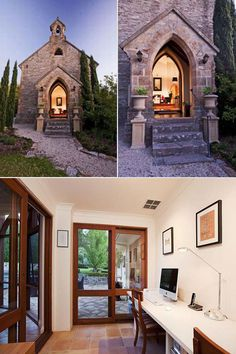 Old church in Adelaide, Australia converted into a modern home.