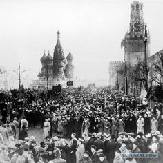 WWI, Moscow, Red Square Nov 1917, mass funeral