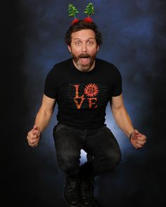 "RobBenedict on Twitter: ""last day! get in on the boys campaign & benefit people in need. so stoked i grew antlers & turned my beard 1/2 grey"": #MishaCollins Retweeted Rob Benedict ""Don't pretend the antlers are for the campaign. You already had antlers. Beard was a classy touch, though. LAST DAY!"" #RobBenedict Retweeted Misha Collins ""well you're the first to reveal this to me. why has no one ever told me i have antlers?!? thank you misha. you're a real friend."""