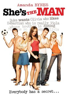 """She's the Man"" 2006 movie starring Amanda Bynes, Laura Ramsey, and Channing Tatum. Directed by Andy Fickman. Retelling of Twelfth Night by William Shakespeare. Amanda Bynes, Channing Tatum, Hiroshima, Best Chick Flicks, Cinderella Story, She's The Man, Bon Film, Believe, Teen Movies"