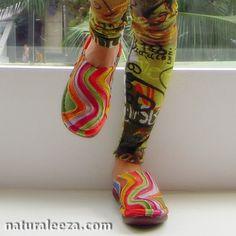 -Sabot Sandals-Reinbow Leather Handmade  http://naturaleeza.com/?pid=63661945