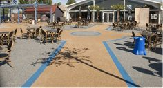 Flamingo Land Resort in Yorkshire, gets a creative make-over from E C Surfacing of North Lincolnshire using Adbruf's GeoPave Resin Bound decorative paving.