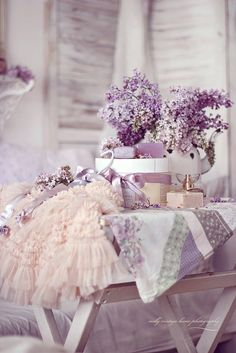 Lilacs and lace ... always a beautiful combination! #lavendertopurple