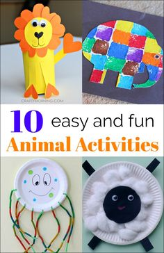 If your kids love animals, then they will love these Simple Animal Activities.