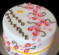 torta, cake čerešňové kvety