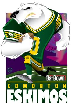 #EPoole88 (Eric Poole) is at it again, this time with the CFL. Here is his rendition for the Edmonton Eskimos.