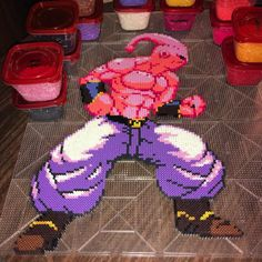 "3,713 Likes, 63 Comments - kenneth (@kensbeadart) on Instagram: ""part 4 of my anime pixel series3 beerus vs goku god is done!! i had alot of fun making this and i…"""