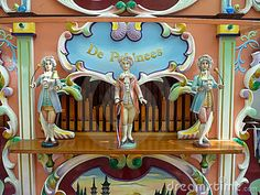 Detail picture of a typical Dutch barrel organ.