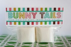 Marshmallow Bunny tails----so cute!!