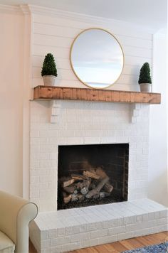 We recently converted our wood burning fireplace to gas, and did a little makeover of our fireplace that I am so excited to share with you!