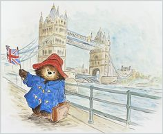 Paddington Bear London Illustration, Children's Book Illustration, Paddington Bear Party, Teddy Hermann, Cute Art, Animation, Illustrators, England, Disney