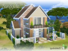 Lovely little two story house for your sim or sim couple Found in TSR Category 'Sims 4 Residential Lots'