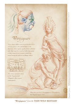 """""""Werejaguars"""" page from the Teen Wolf Bestiary by Swann Smith. Art prints starting at US$20."""