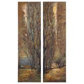 Found it at Wayfair - Tree Panels by Feyock 2 Piece Original Painting Set Earth Tone Colors, Earth Tones, Mediterranean Home Decor, Tuscan Decorating, Natural Earth, Metal Wall Art, Home Accents, Original Paintings, Canvas Art