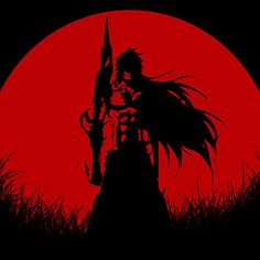 Ichigo Getsuga Red Moon  Available as T-Shirts & Hoodies, iPhone & iPod Cases, Samsung Galaxy Cases, iPad Cases, Stickers, Posters, Cards, Prints, and Kids Clothes