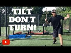 As a baseball hitter, you want to learn how to tilt your upper body instead of turning it. Learn how to improve your bat speed, bat quicknes. Baseball Hitting Drills, Softball Drills, Softball Coach, Baseball Videos, Baseball Tips, Baseball Quotes, Baseball Stuff, Sports Basketball, Kids Sports