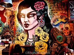 Artwork on a wall in Mexico Restaurant in the Ponsonby neighborhood of Auckland New Zealand