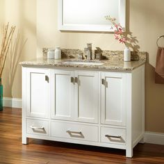 Modero Vanity for Undermount Sink - White - Bathroom Vanities - Bathroom Bathroom Redesign, Bathroom Furniture, 60 Inch Vanity, Vanity, Undermount Sink, Bathroom Design, White Vanity Bathroom, White Undermount Kitchen Sink, Vanity Sink