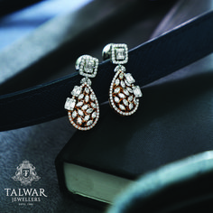 diamond earrings really are eye-catching Picture# 2450950027 India Jewelry, Jewelry Art, Gold Jewelry, Fine Jewelry, Jewelry Design, Women Jewelry, Fashion Jewelry, Gold Diamond Earrings, Diamond Studs