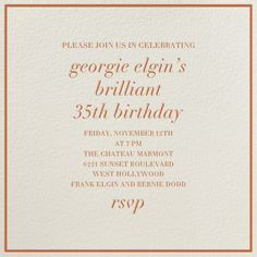Cream Interior Border By Paperless Post Customize One Of Hundreds Online Birthday Party Invitations