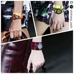 Neon lights and pithon watches in the #accessories from @versace_official #watches #neon #pithon #exotic #color #colorful #classy #edgy #modern #spring #ss16 #MFW #donatellaversace #milan #milano #europe #style #accesorios #moda #closeup  #women #womensfashion  https://t.co/3yhMXf2b5G