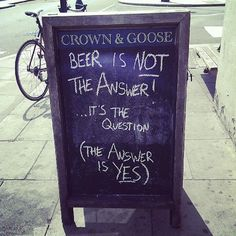 Beer is not the answer? http://barnacles.ie/