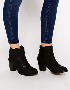 new arrivals 7dc46 ea2fd Oasis Zoe Zip Back Heeled Boots Asos, Ankle Heels, Shoes Heels, Shoe Boots