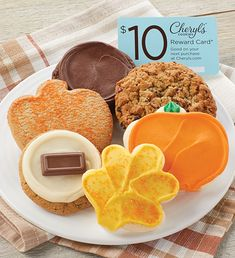 Cheryl's cookie delivery makes the best cookie gifts to send to family & friends. Send cookies, brownies & gourmet desserts from Cheryl's, for any occasion! Mother's Day Cookies, Kinds Of Cookies, Fall Cookies, Cut Out Cookies, Gourmet Cookies, Gourmet Desserts, Gluten Free Cookies, Shortbread Cookies, Triple Chocolate Chip Cookies