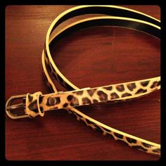 Leopard Print Belt This leopard print belt came with a dress, but I never used it. It is 100% PVC. Size 9. Offers welcome. Accessories Belts