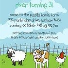 Printed Petting Zoo Party Invitation