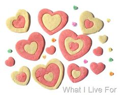 Multi Heart Sugar Cookies at whatilivefor.net
