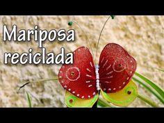 Manualidades para Decorar : Mariposas reciclando medias de nylon - Manualidades para todos - YouTube