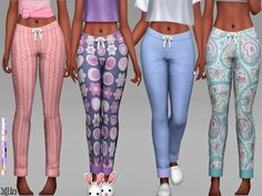 The Sims Resource: Winks Pyjama Bottoms by Margeh-75 • Sims 4 Downloads