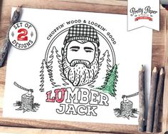 coloring pages lumberjack lumberjill instant download lumberjack birthday party activity buffalo plaid printable bp08