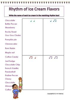 RHYTHM! Students are to match the name of the given words to the correct rhythm 14 rhythm sheets!!! ♫ CLICK through to see the whole set! ♫