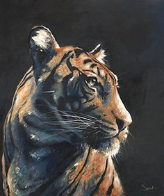 Bengal Tiger Oil Painting Giclee Print. Life is just better with animals around! Light up your room and spirit with this fine art print of my original bengal tiger oil painting. I know I can't help but smile and be happy whenever I see an animal! Hopefully you feel the same. Please do enjoy this very personal and meaningful artwork! ARTIST: Eric Sweet SIZE: choose the size that best fits your budget SIGNED by the artist MEDIA: fine art print (the original was painted in oil paint) FRAMING...