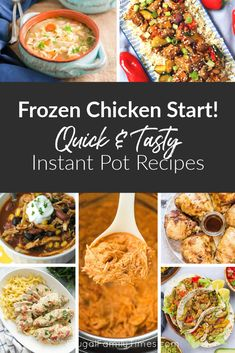 Oh no! I forgot to thaw the chicken for supper! Sound familiar? This list will save you! This is a collection of delicious Instant Pot Frozen Chicken Recipes that you can pull together at the very last minute and save your night. Perfect for those really busy evenings. Included are recipes for: BBQ chicken thighs, buffalo chicken, noodle casseroles, soups, Mexican chicken recipes and more!