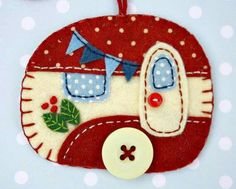 Glamper felt ornament