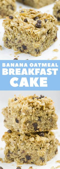 You need a QUICK and EASY BREAKFAST RECIPE to make ahead for busy mornings so you can just grab a piece and eat on the go??? This easy Banana Oatmeal Breakfast Cake is combo that you are searching for!!!