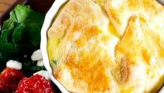Roasted Tomato and Feta Egg Souffle Recipe {Copycat Panera Breakfast Recipe} Breakfast Souffle, Breakfast Casserole, Breakfast Recipes, Spinach Souffle, Egg Souffle, Souffle Recipes Easy, Honey Bread, Spinach And Cheese