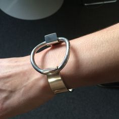 Hans Hansen Sterling Silver Ring Bracelet by Bent Gabrielsen, Handmade Sterling Silver - Gallery 925