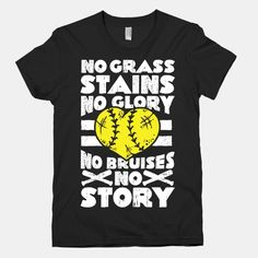 No Grass Stains No Glory baseball shirt
