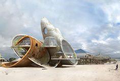 Refugio contra desastres naturales | Dauphin VIII by Dionisio González (Dauphin Island, Mexican Gulf)