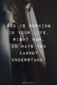 God is working.....