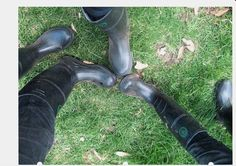 Rubber Booted Trio getting to know each other better